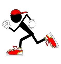 runner character vector image vector image
