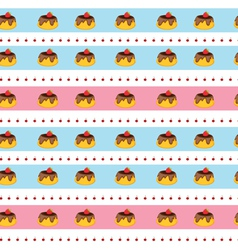 Seamless pudding background vector