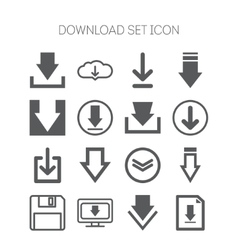 Set of download icons for web site applications vector image