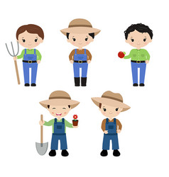 Set of farmers set of farmers vector