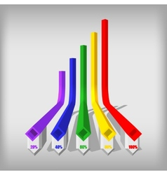 Three-dimensional color rhomboid infographics vector image
