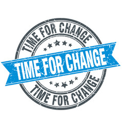 Time for change vector