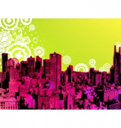 urban trendy poster vector image vector image