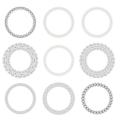Vintage Drawn Frame Set vector image vector image