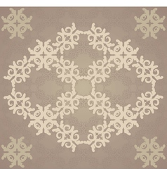 Vitage brown flourish pattern vector