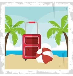 Palm tree summer holiday vacation icon vector