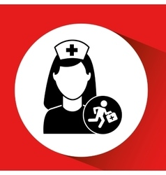 Paramedic first aid hospital building icon vector