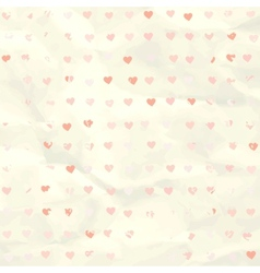 Watercolor heart pattern on paper texture EPS 8 vector image