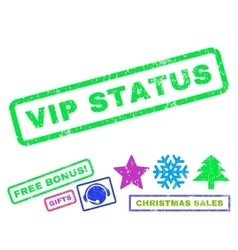 Vip status rubber stamp vector
