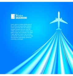 Airplane over blue background vector