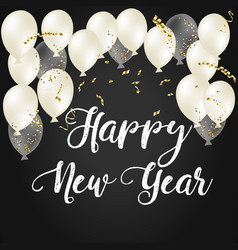 2018 happy new year ballon vector