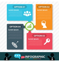 Modern bubble banner infographic design vector