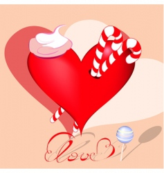 heart with sweets vector image