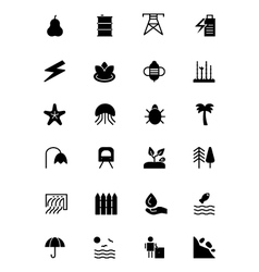 Nature and ecology icons 5 vector