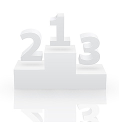 third places vector image