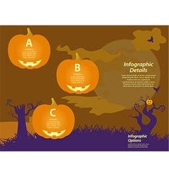 Halloween infographic background with pumpkins vector