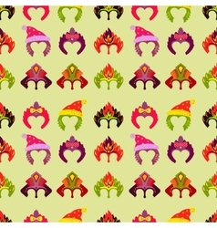 New year 2015 seamless pattern with monkey mask vector