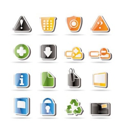 Simple web site and computer icons vector