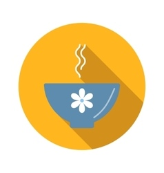 Soup flat icon vector