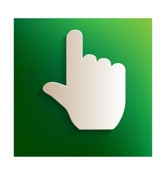 Hand sign icon vector image