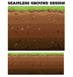 Underground design with lawn on dirt vector image