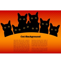 Black cats vector