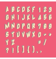 Alphabet set 3d Design element vector image