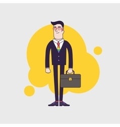 Young stylish homosexual businessman with leather vector