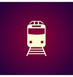 Train icon flat design style vector