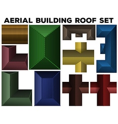 Aerial building roof set vector