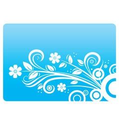 abstract blue ornament vector image