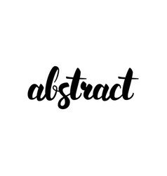 abstract handwritten lettering vector image