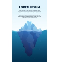 Big iceberg in the sea concept vector