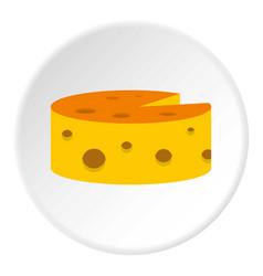 Cheese icon circle vector