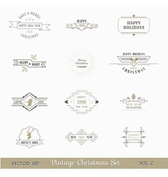 Christmas Calligraphic Design Elements Set vector image
