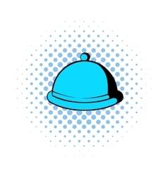Closed dish comics icon vector