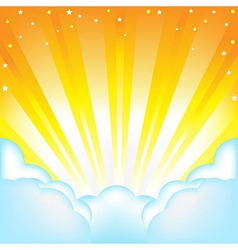 Clouds And Sun vector image