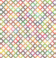 Colorful abstract diagonal square pattern design vector