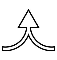 Connect arrow up stroke icon vector