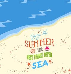 Enjoy the summer on the beach vector