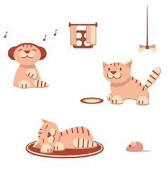 Funny cats in flat style vector image vector image