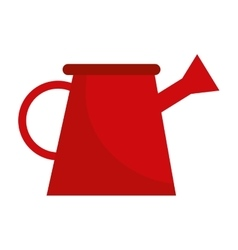 garden watering can isolated icon design vector image