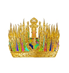 golden abstract crown vector image vector image