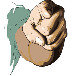 hand show you vector image