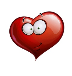 Heart faces happy emoticons smirk vector