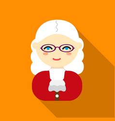 Judge flat icon for web and mobile vector