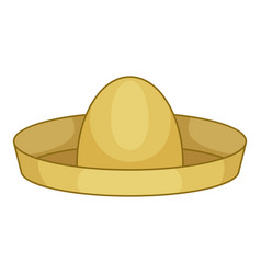 Mexican hat sombrero icon cartoon style vector
