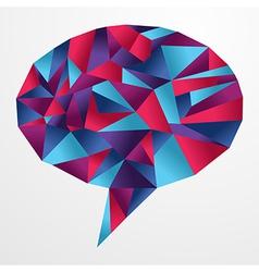 Origami social speech bubble vector image vector image