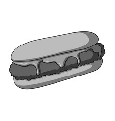 Pastry single icon in monochrome stylepastry vector