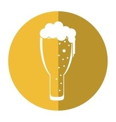 saint patrick day frosty glass beer celebration vector image